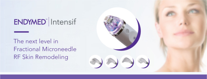EndyMed Intensif treatment uses microneedles and radiofrequency energy